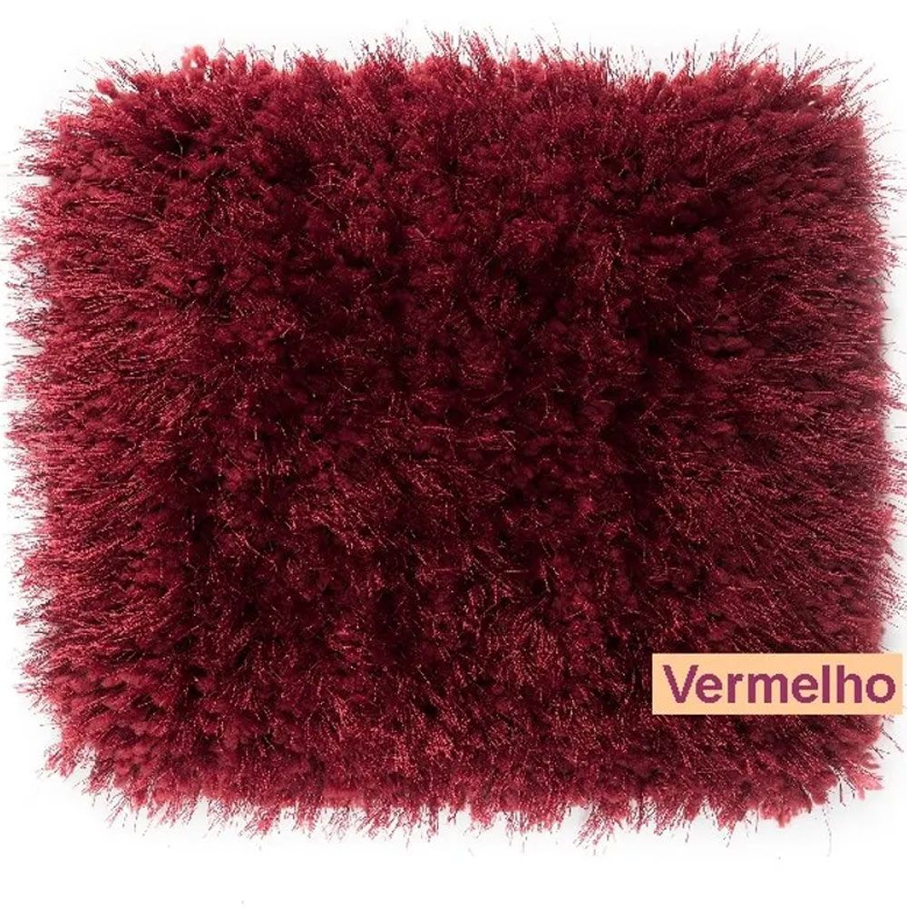 Tapete para Sala Corttex Parvati Vermelho 150x200cm