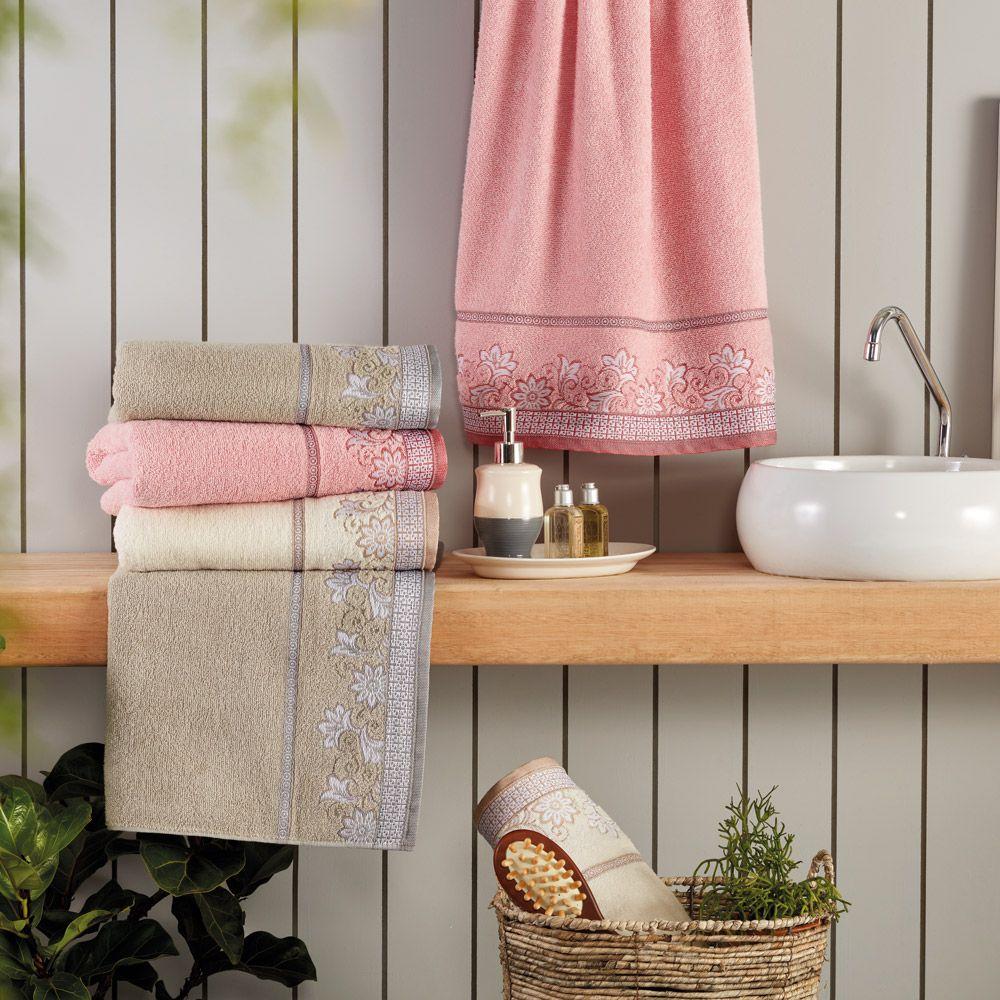 Toalha de Banho Appel Di Fiori - Rosa Quartzo