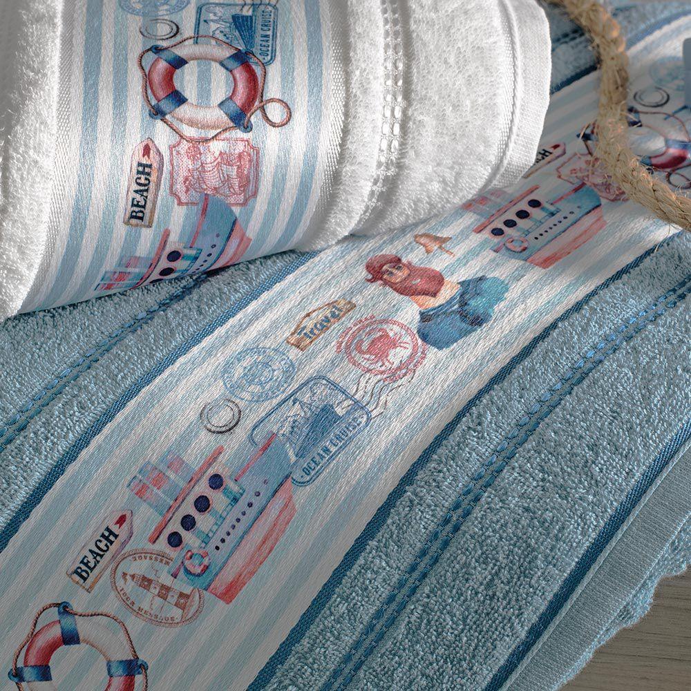 Toalha de Banho Karsten Infantil Marujo Azul Marinho