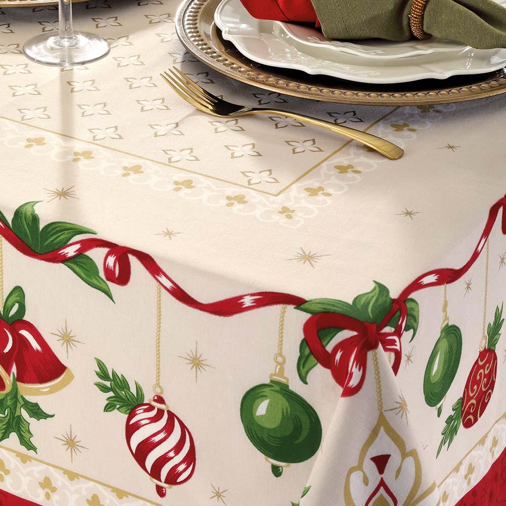 Toalha de Mesa Dohler Quadrada 4 lugares Genebra Natal 83