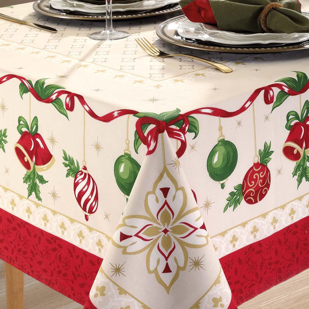 Toalha de Mesa Dohler Retangular 8 Lugares Genebra Natal 83