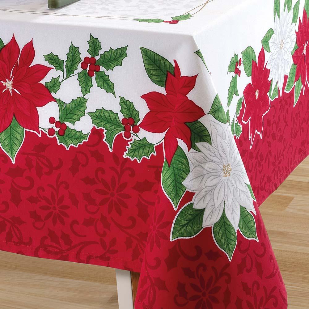 Toalha de Mesa Dohler Retangular 8 Lugares Genebra Natal 84