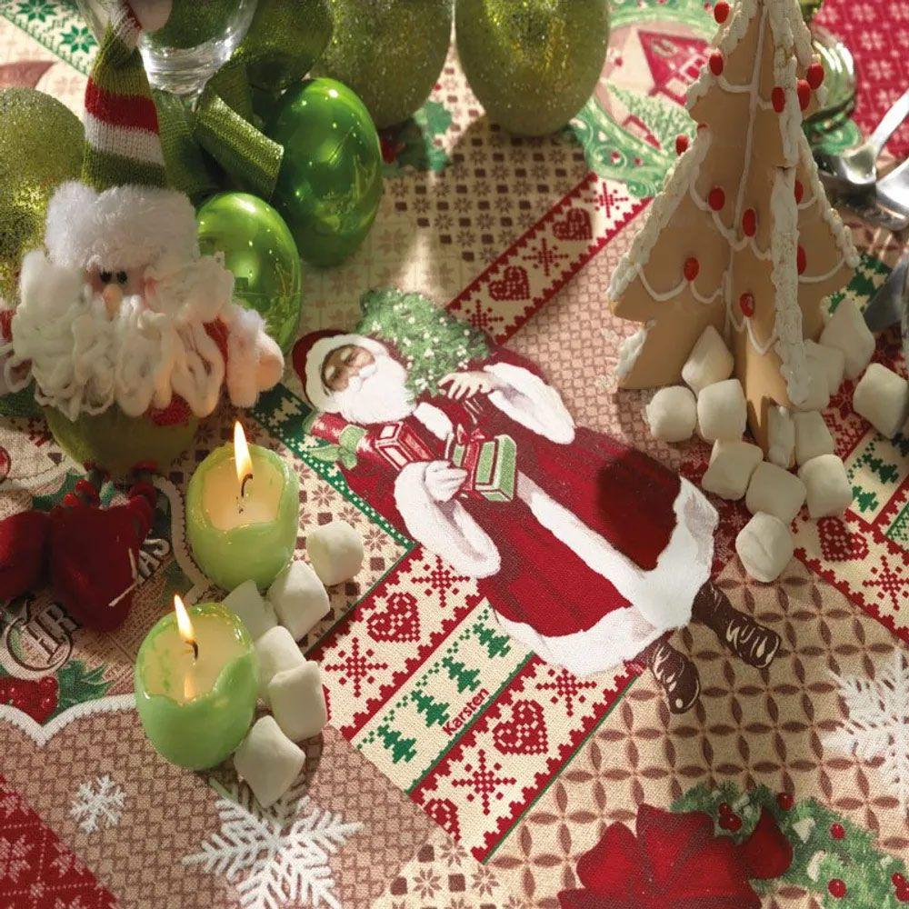 Toalha de Mesa Karsten Quadrada 4 Lugares Natal Patchword