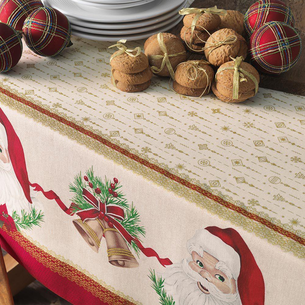 Toalha de Mesa Karsten Quadrada 4 Lugares Natal Tempo de Abraçar
