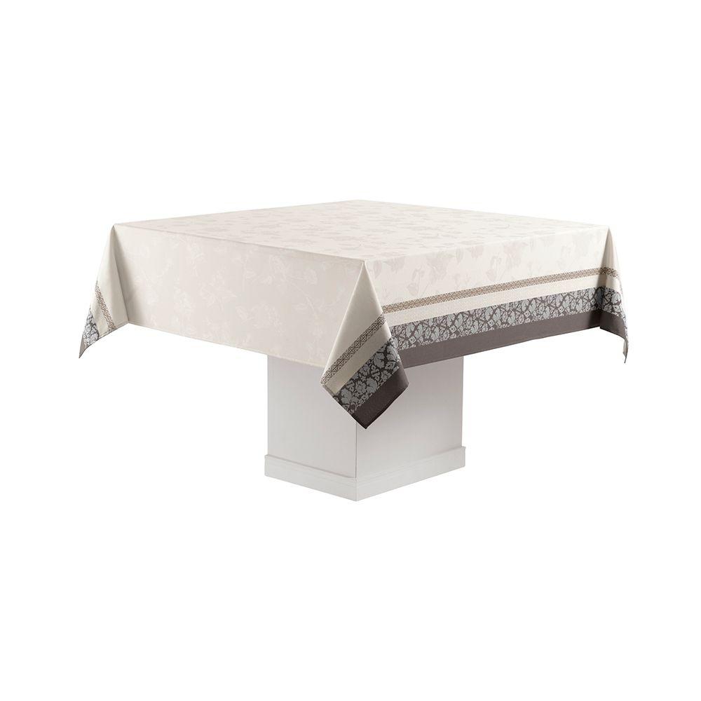 Toalha de Mesa Karsten Quadrada 8 Lugares 180x180cm Celebration Imperial Bege