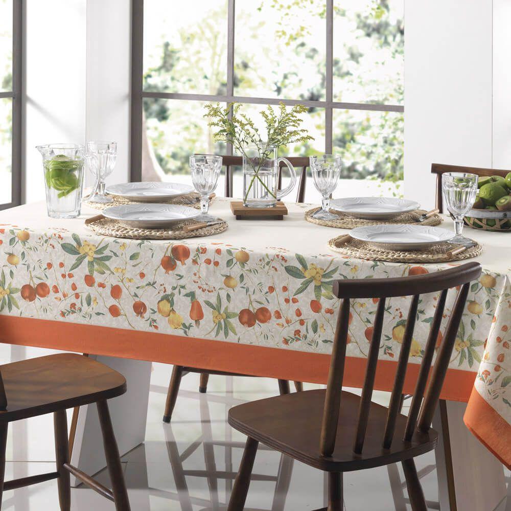 Toalha de Mesa Karsten Redonda 4 Lugares Dia a Dia Floralice