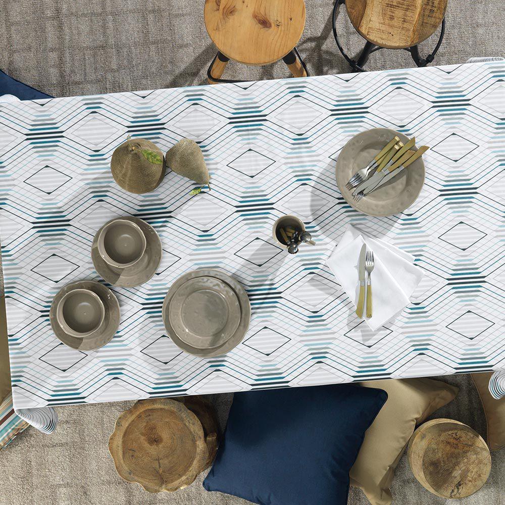 Toalha de Mesa Karsten Redonda 6 Lugares Sempre Limpa Éron