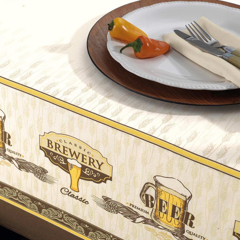 Toalha de Mesa Karsten Retangular 6 Lugares Dia a Dia Beer