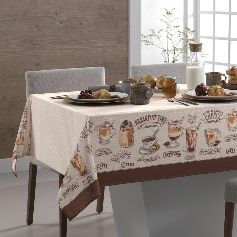 Toalha de Mesa Karsten Retangular 6 Lugares Dia a Dia Café Gourmet