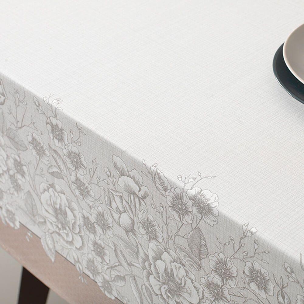 Toalha de Mesa Karsten Retangular 6 Lugares Limpa Fácil Marguerite