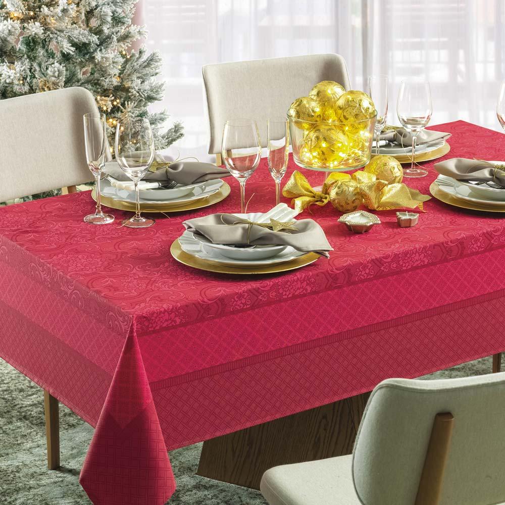 Toalha de Mesa Karsten Retangular 6 Lugares Natal Clássica