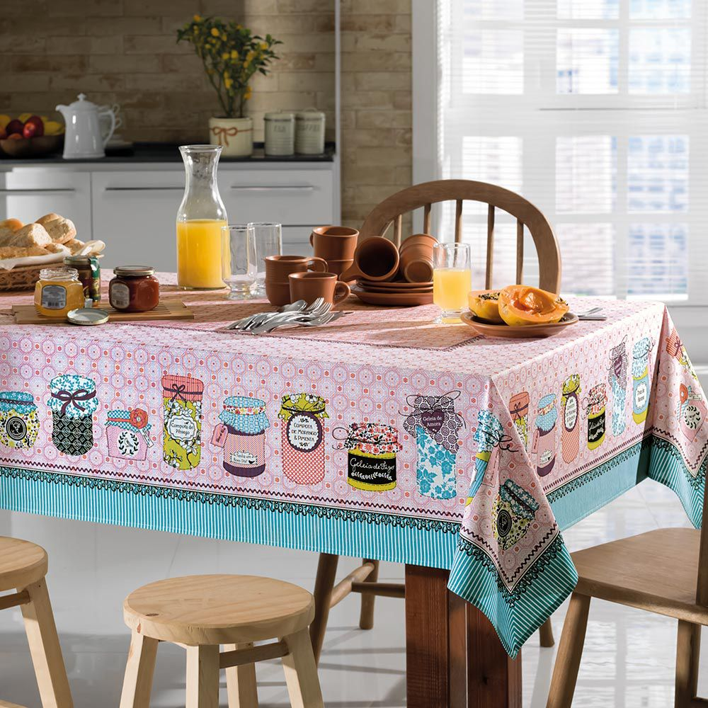 Toalha de Mesa Karsten Retangular 8 Lugares Cada Dia Jelly