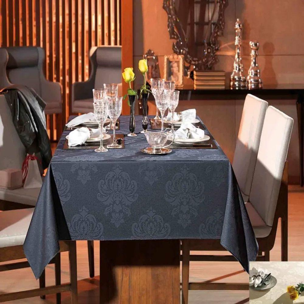Toalha de Mesa Karsten Retangular 8 Lugares Celebration Carolla Marfim