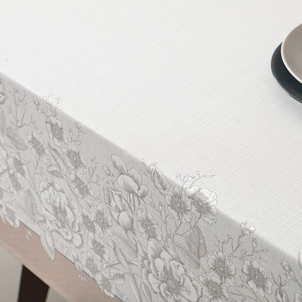 Toalha de Mesa Karsten Retangular 8 Lugares Limpa Fácil Marguerite