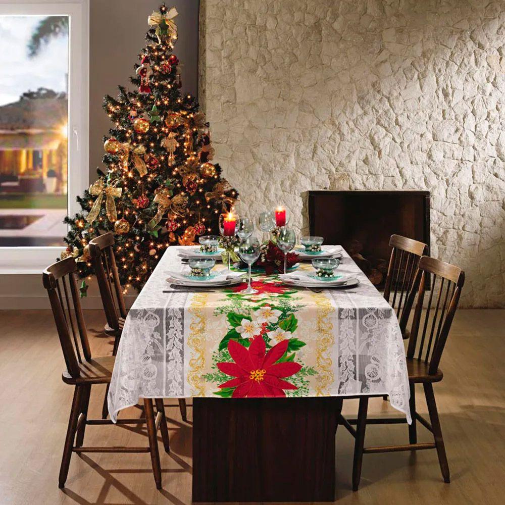 Toalha de Mesa Lepper Retangular 10 Lugares Lepper Home Natal