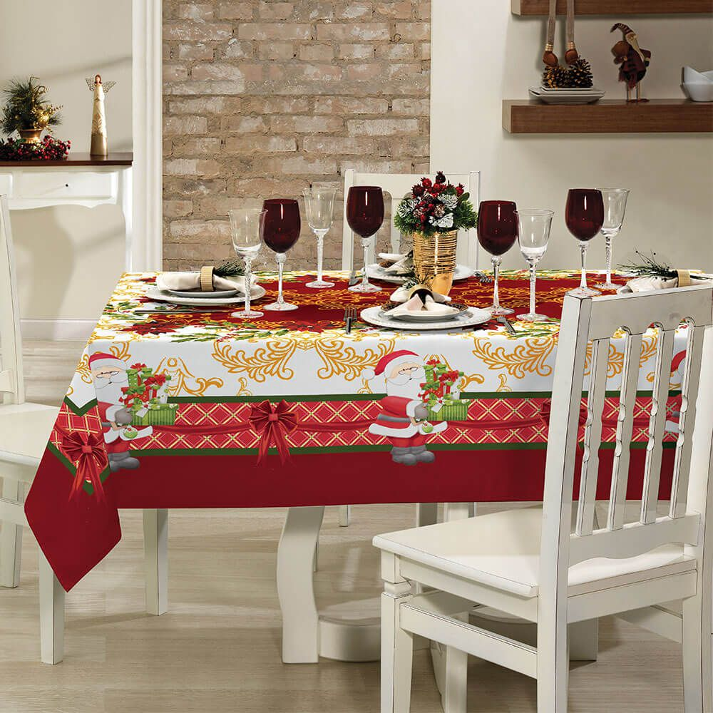 Toalha de Mesa Lepper Retangular 6 Lugares Lepper Home Natal VII