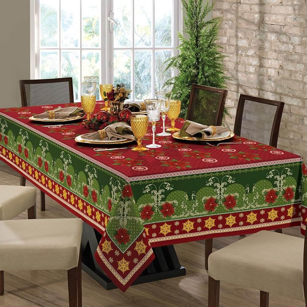Toalha de Mesa Lepper Retangular 8 Lugares Lepper Home Natal X