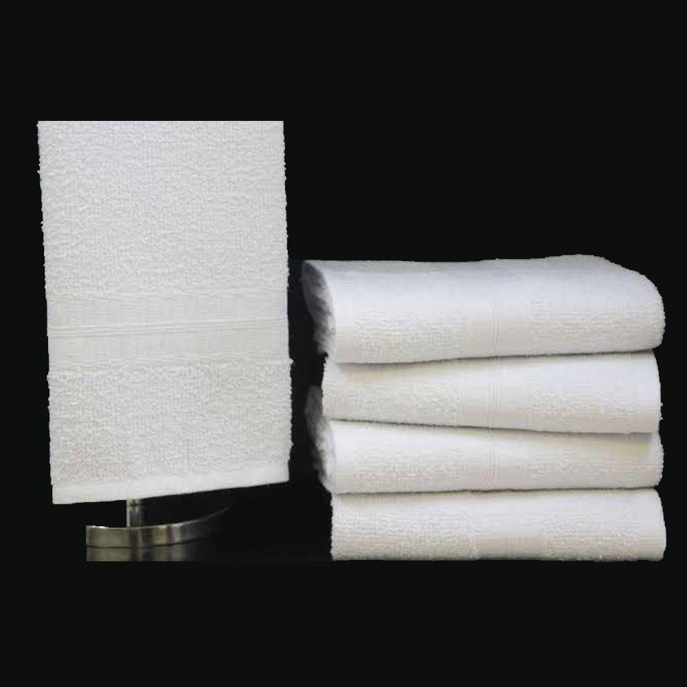 Toalha de Rosto Branca Profissional 40cm x 70cm - 290g/m2
