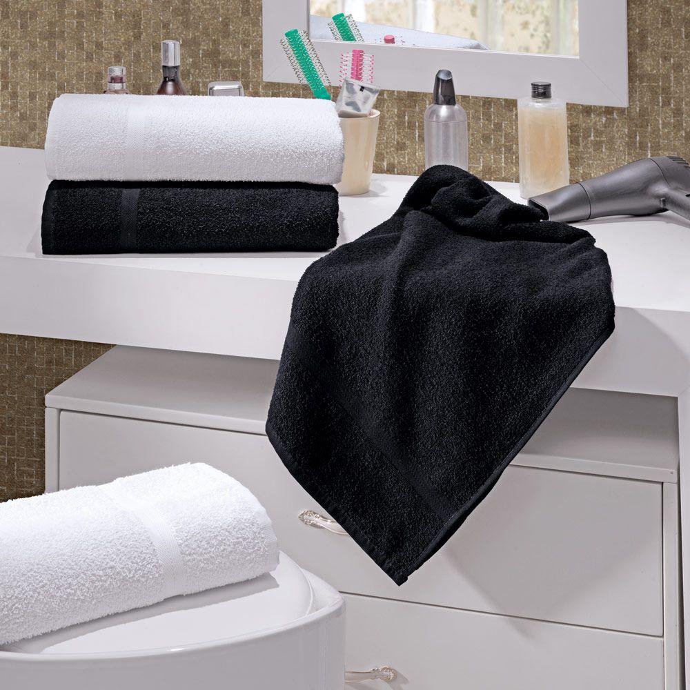 Toalha de Rosto Linha Profissional Beauty Branca 42cm x 70cm - 280g/m2