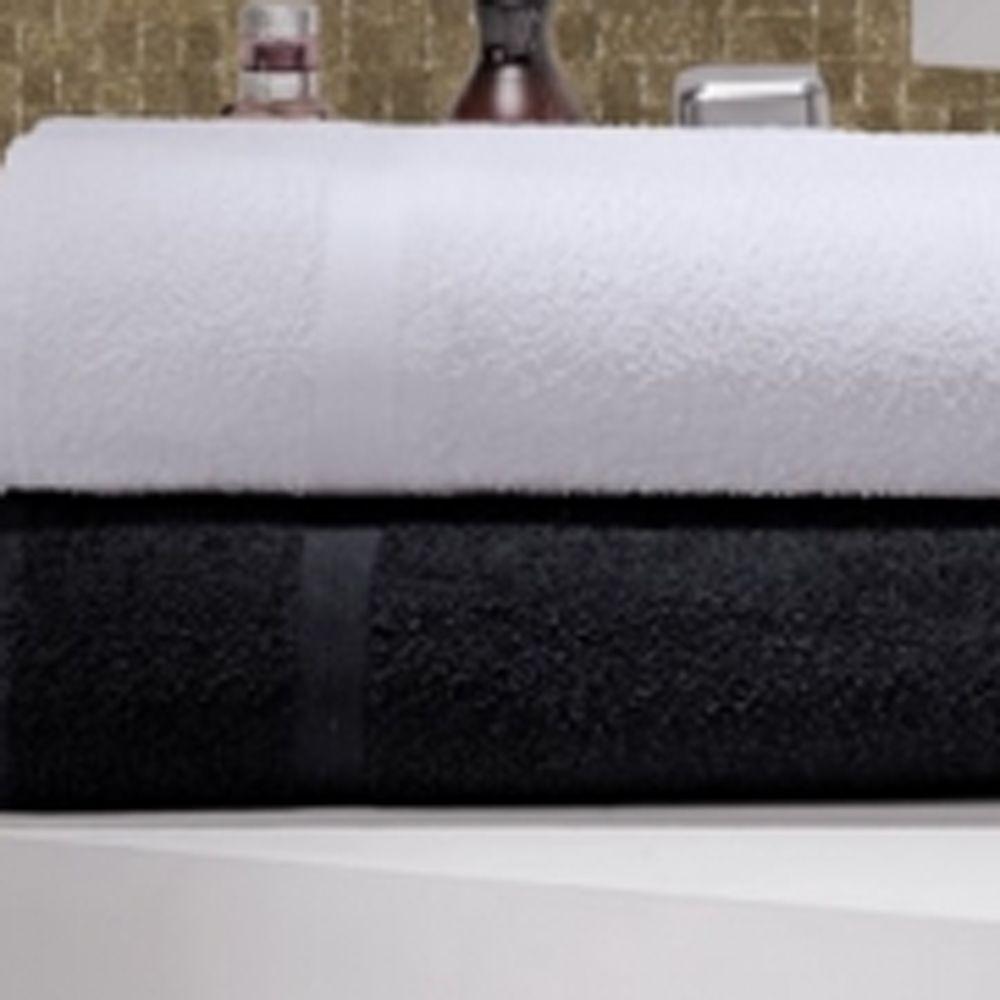 Toalha de Rosto Linha Profissional Beauty Preta 42cm x 70cm - 280g/m2