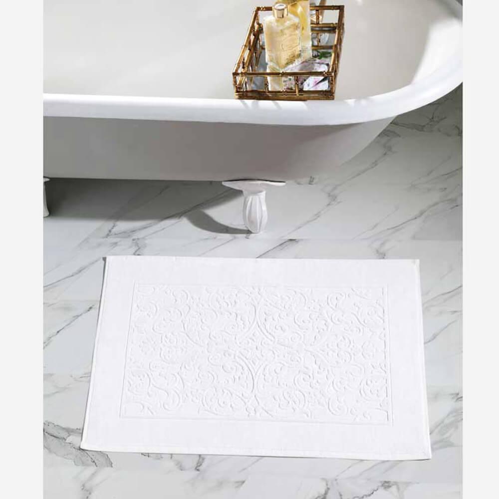 Toalha para Pés Dohler Felpudo Jacquard Confort FJ-6408 Branco