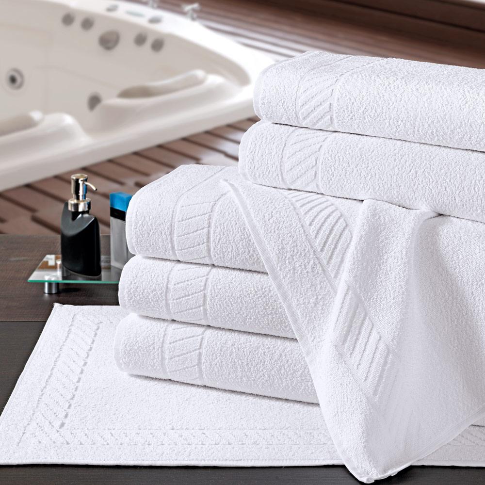 Toalha para Piso de Hotel Linha Premium 50cm x 80cm - 500g/m2