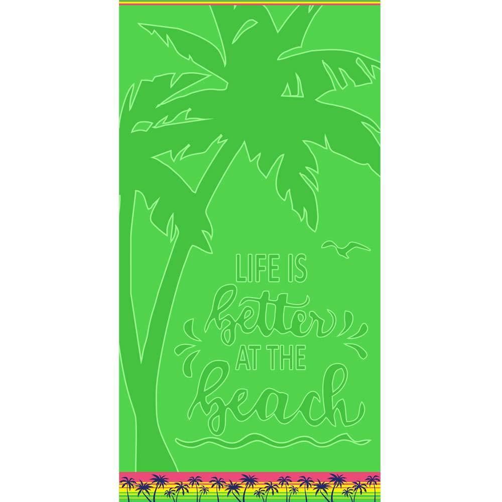 Toalha de Praia Aveludada Appel Beach Coqueiros
