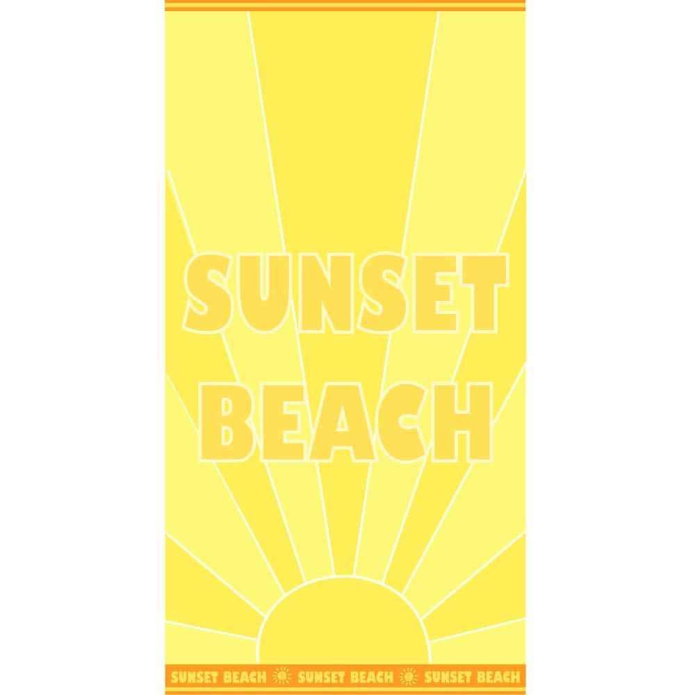 Toalha de Praia Aveludada Appel Beach Sunset