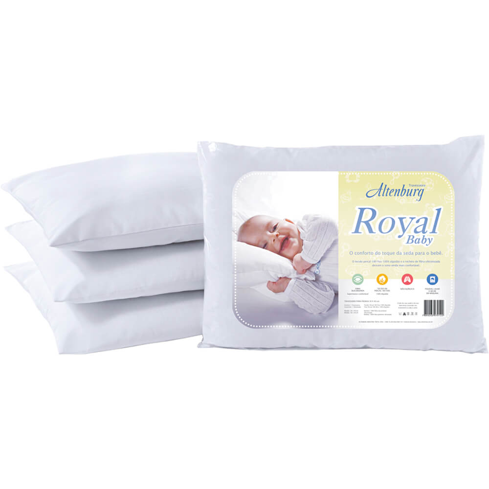 Travesseiro Altenburg Infantil 30cm x 40cm Royal Baby