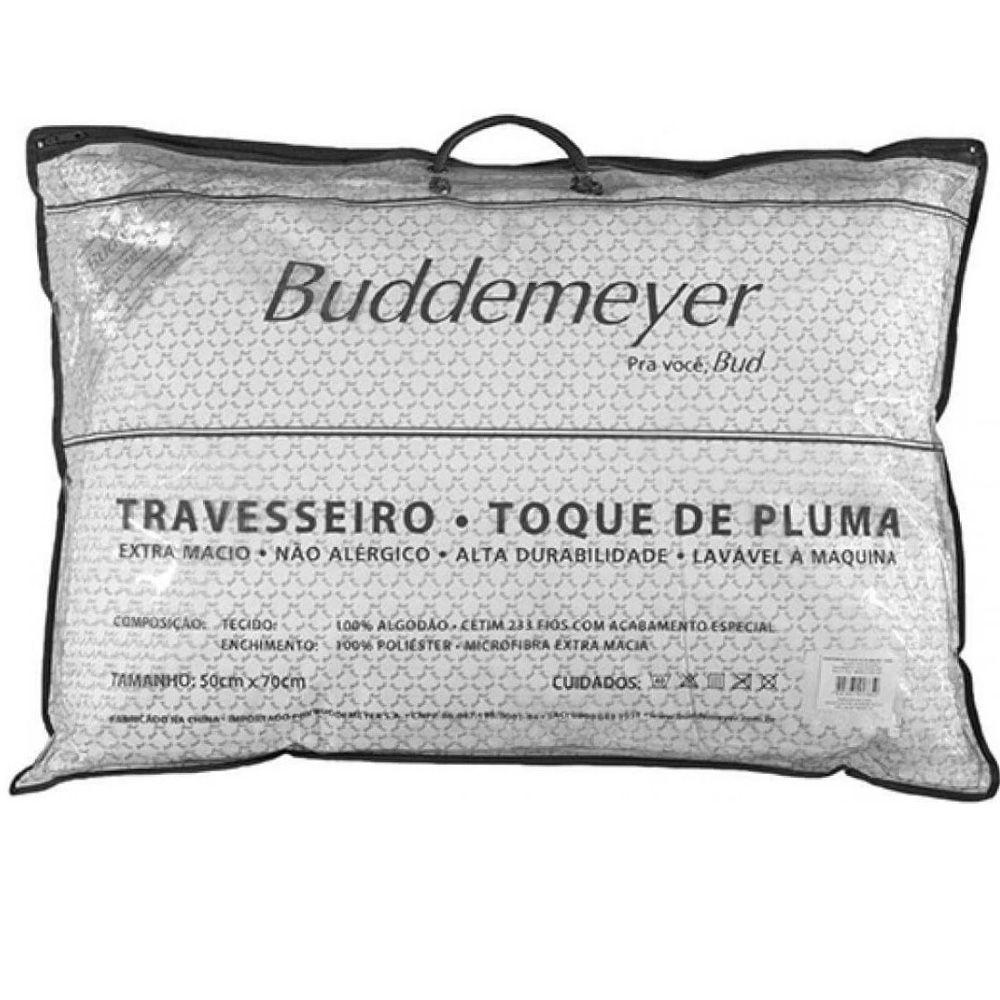 Travesseiro Buddemeyer Cetim 233 Fios Toque de Pluma
