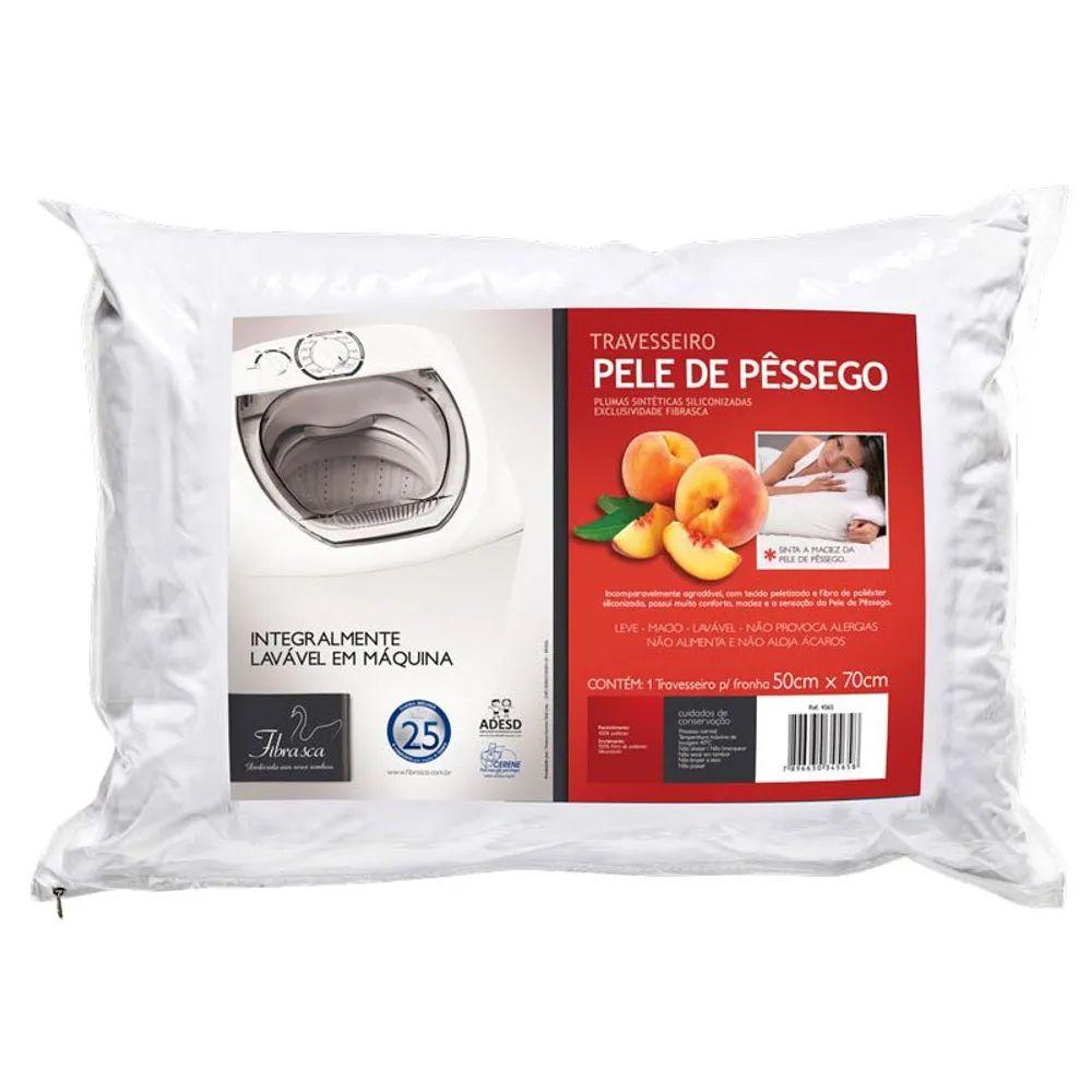 Travesseiro Fibrasca Integralmente Lavável Pele de Pêssego