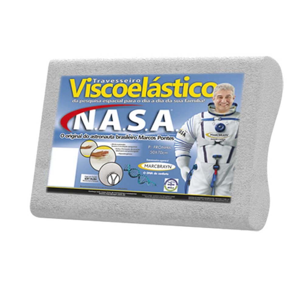 Travesseiro Marcbrayn Viscoelástico Nasa Anatômico Baixo