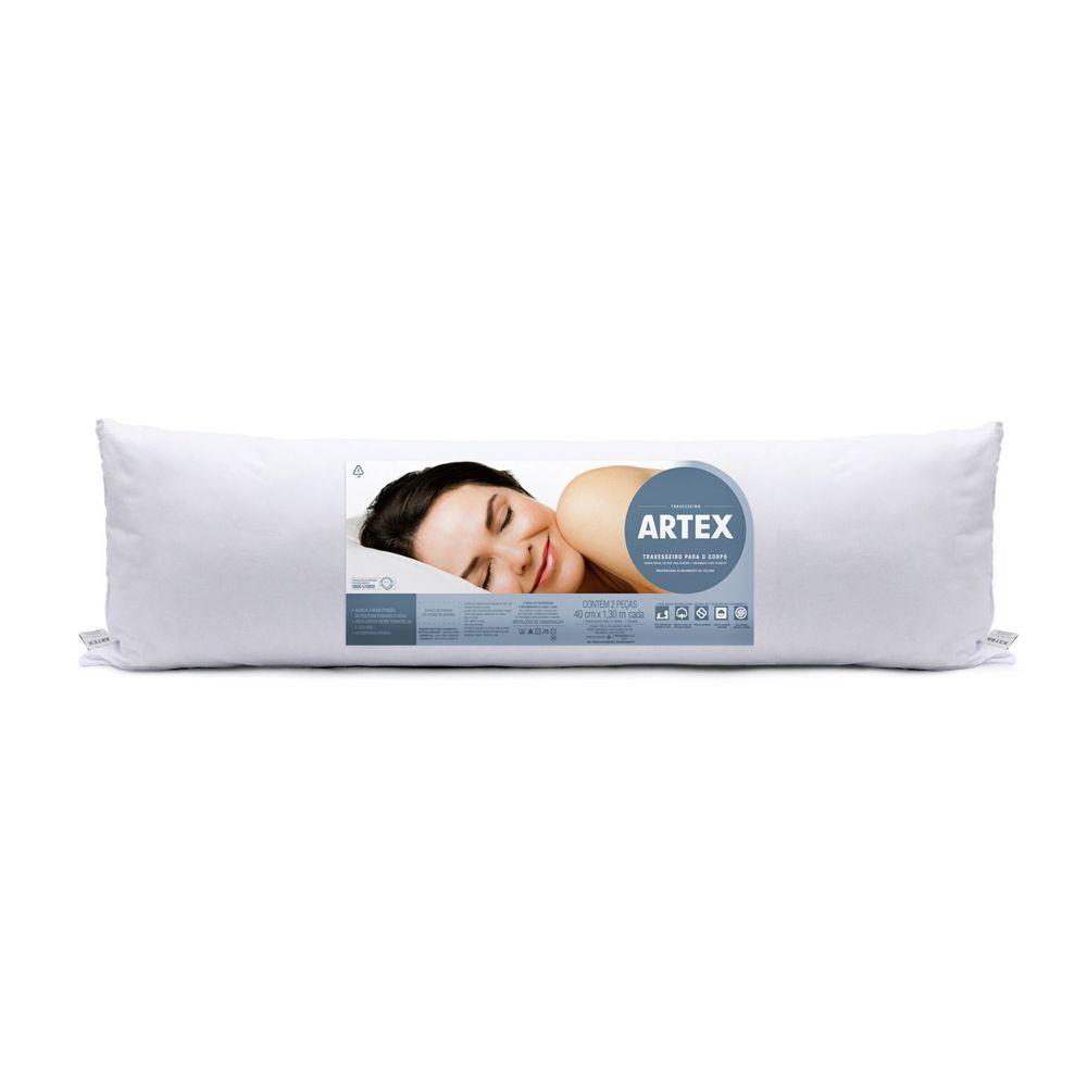 Travesseiro para o Corpo Artex + Fronha Percal 180 Fios - 40cm x 130cm