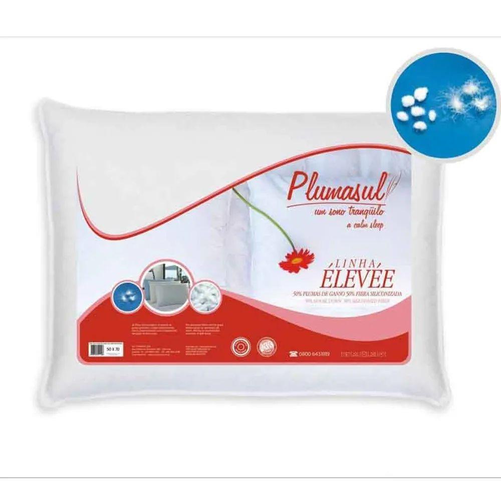 Travesseiro Plumasul Percal 233 Fios 50% Pluma de Ganso 50% Fibra Siliconizadas