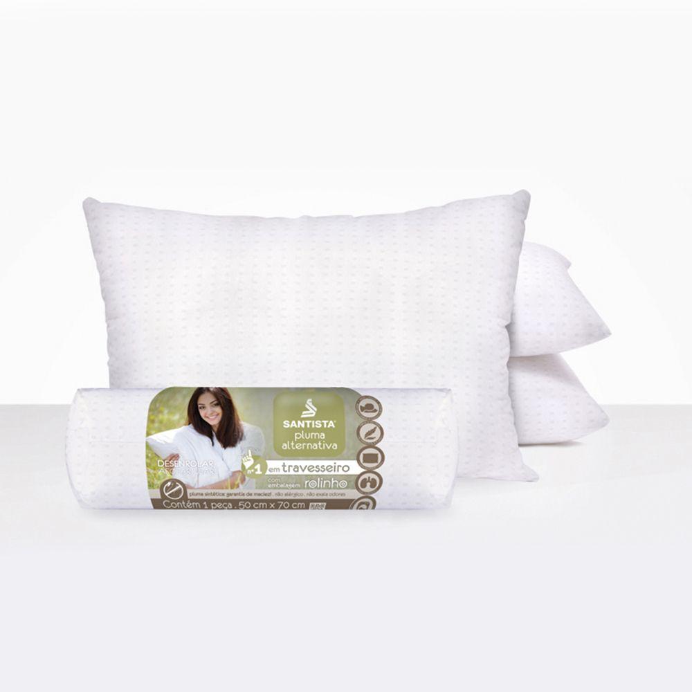 Travesseiro Santista Rolinho 50cmx70cm Pluma Alternativa