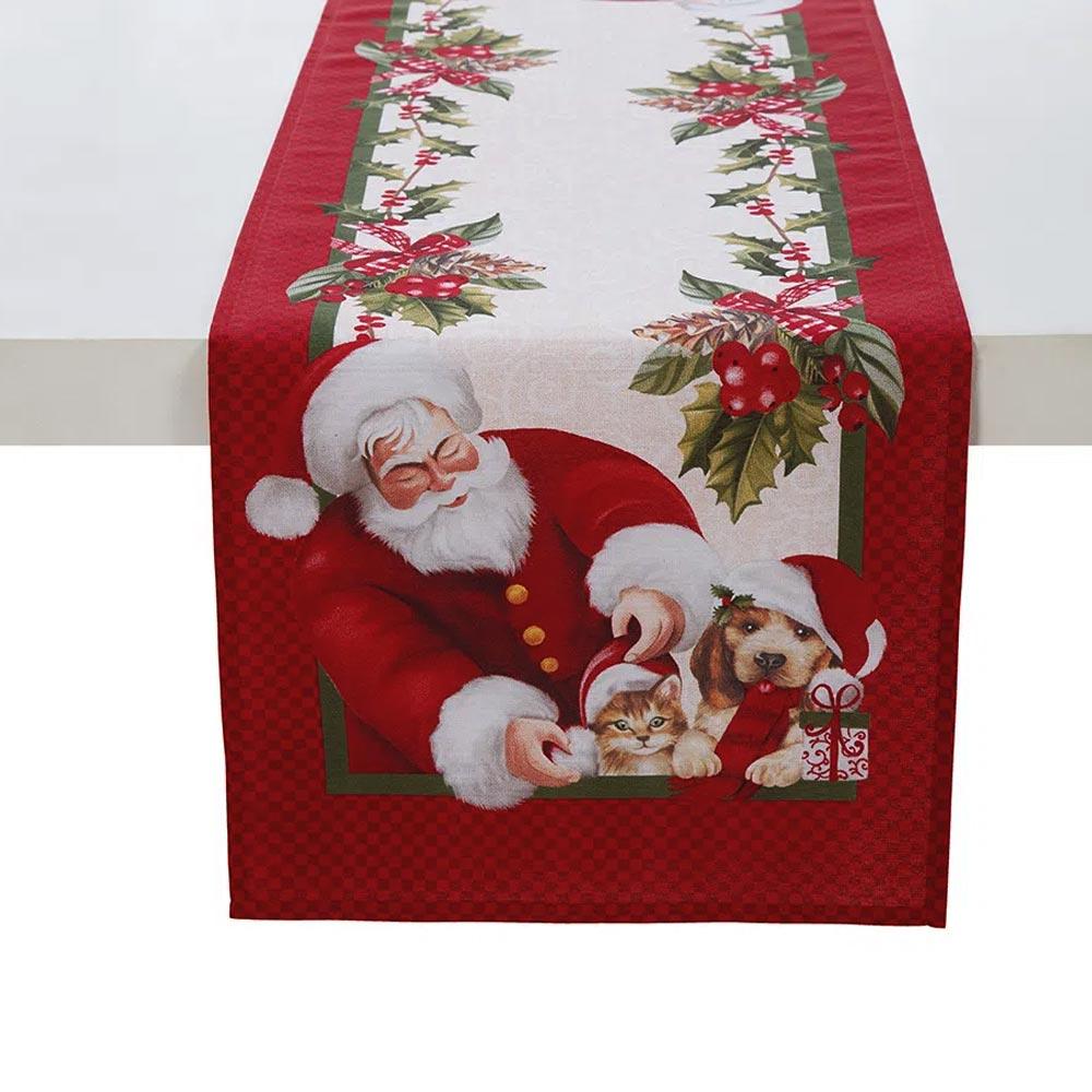 Trilho de Mesa Karsten 30x100cm Natal Bons Amigos