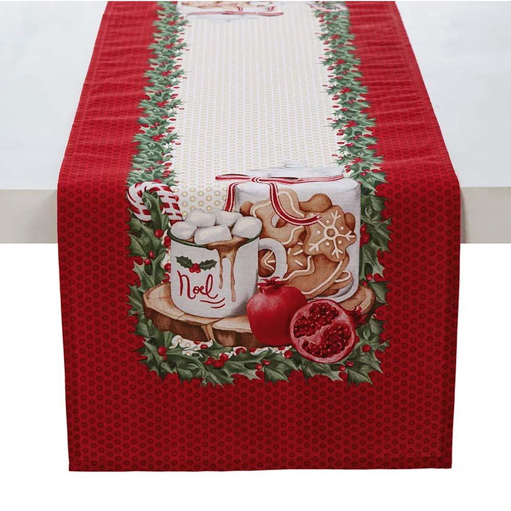 Trilho de Mesa Karsten 30x100cm Natal Segredos de Receita