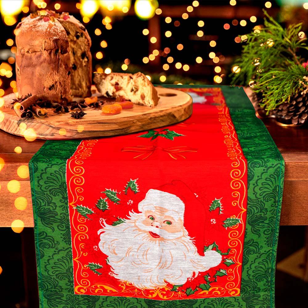 Trilho de Mesa Lepper 35cmx100cm Natal Bom Noel