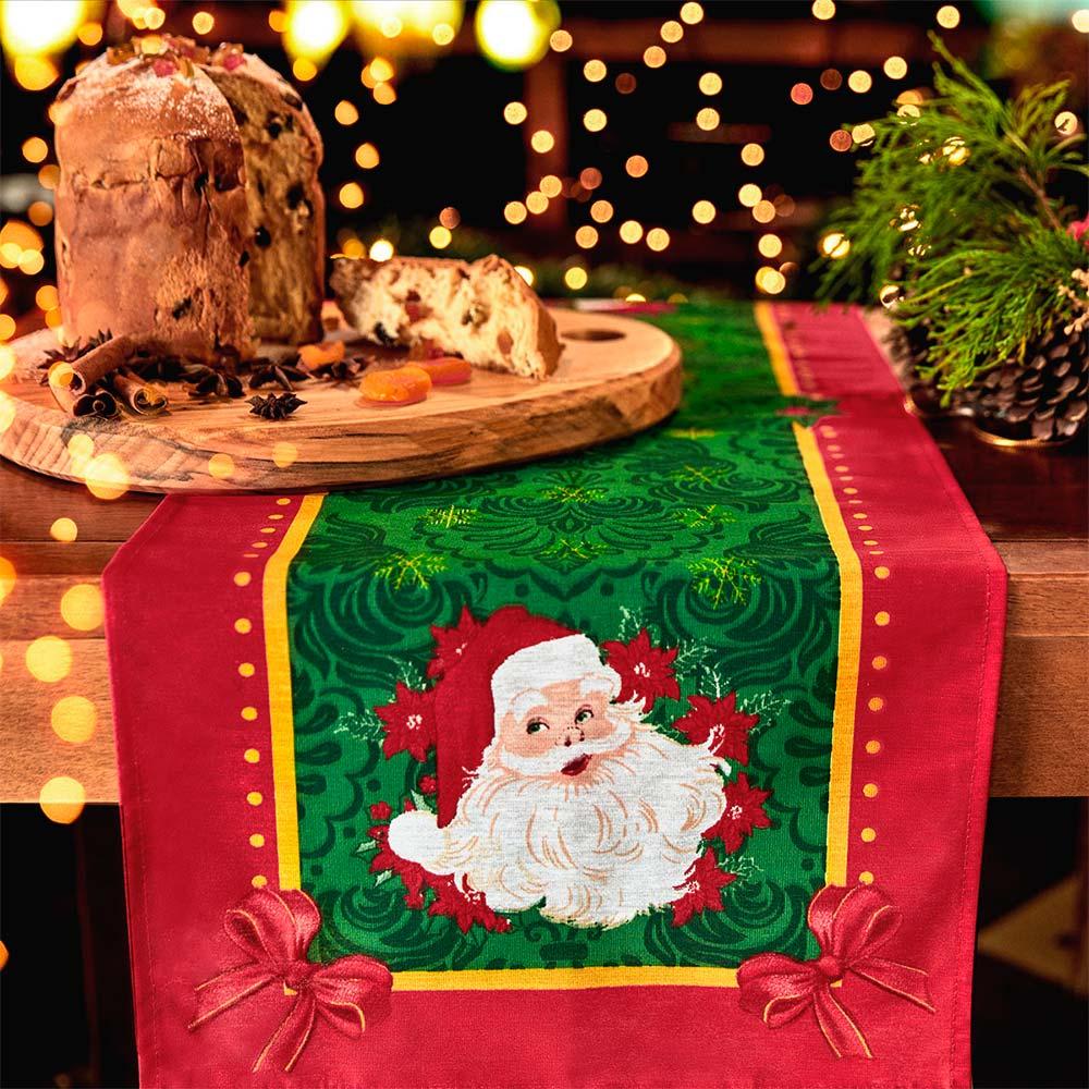 Trilho de Mesa Lepper 35cmx100cm Natal Encanto de Natal