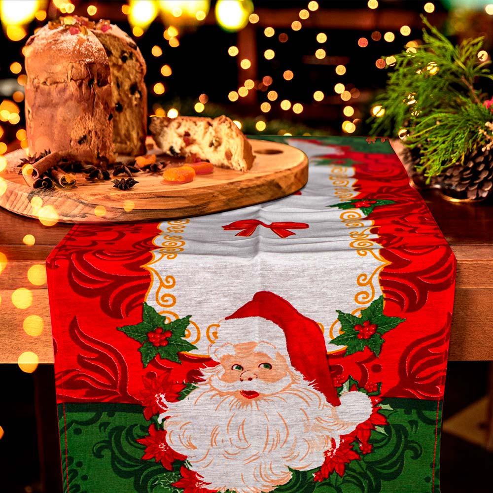 Trilho de Mesa Lepper 35cmx100cm Natal Laços