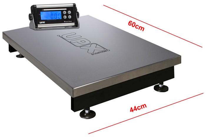 BALANÇA ELETRÔNICA 300kg C/ Bateria 140 horas - Plataforma 44x60cm - Sem Coluna