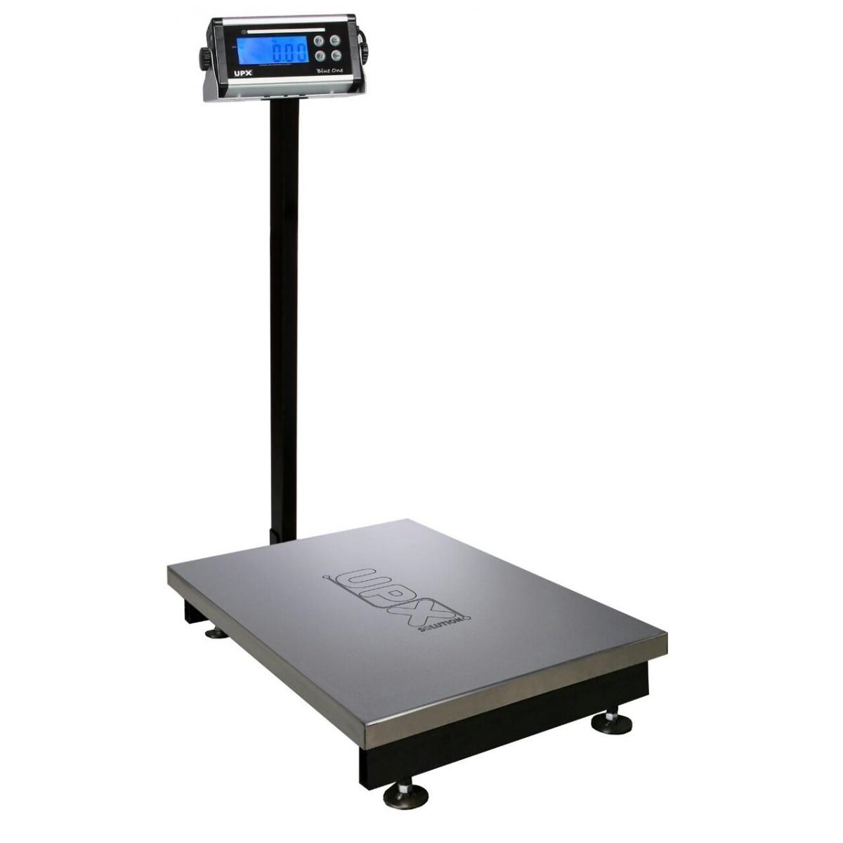 Balança 300kg C/ Bateria 140 horas - Plataforma 44x60cm - Com Coluna