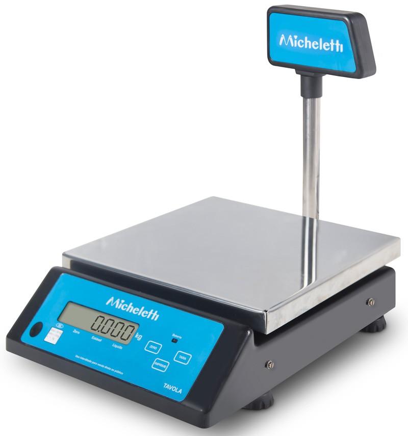 Balança Eletrônica Digital de Precisão -30kg x 5g - Com Coluna