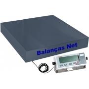 BALANÇA ELETRÔNICA 500kg x 100g - PLATAFORMA AÇO CARBONO 70x70cm - MARTE