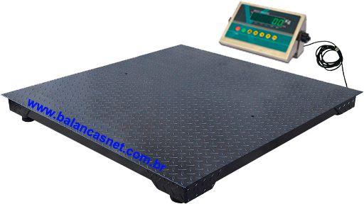 Balança 1500kg Eletrônica Pesadora e Contadora - Plataforma 1,50x1,50m