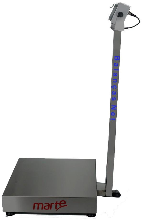 BALANÇA ELETRÔNICA 100kg x 20g - PLATAFORMA 40x40cm - MARTE