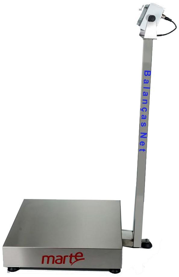 BALANÇA ELETRÔNICA 100kg x 20g - PLATAFORMA INOX 40x40cm - MARTE