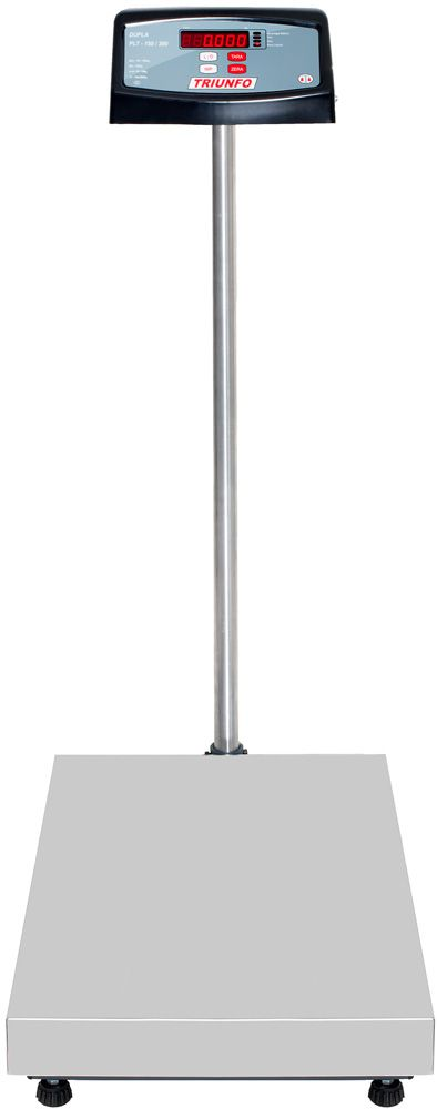 BALANÇA ELETRÔNICA 300kg -  Plataforma 40x60cm - Com Coluna