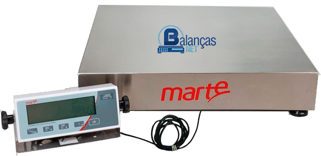 BALANÇA ELETRÔNICA 300kg x 100g - PLATAFORMA INOX 50x50cm - MARTE