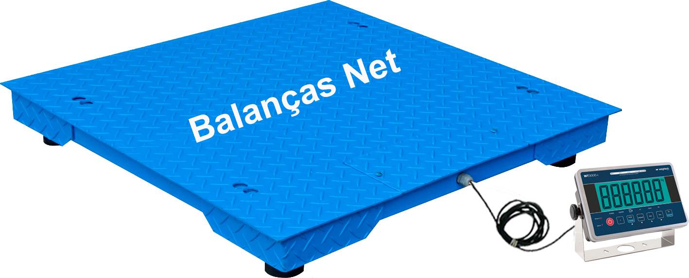 Balança Eletrônica 5000kg X 500g 1,50x1,50 Chapa Xadrez